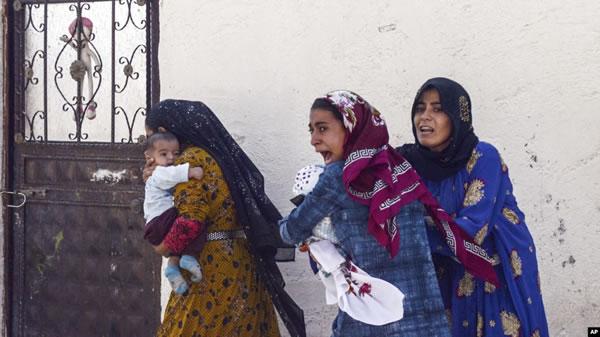 زنان و کودکان قربانی هجوم ترکيه به شمال سوريه