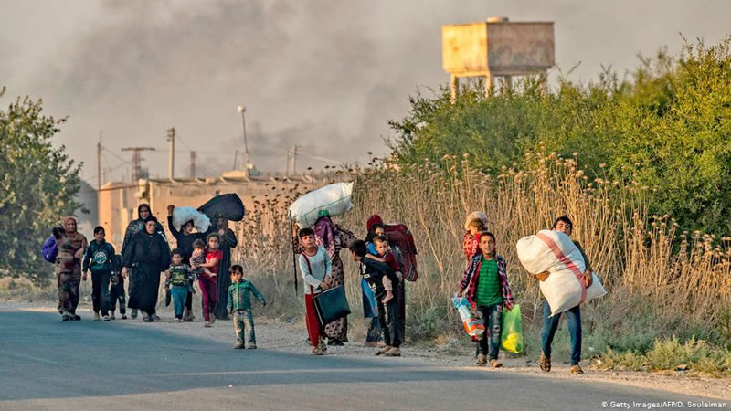 ده ها هزار نفر در شمال سوریه آواره شده اند