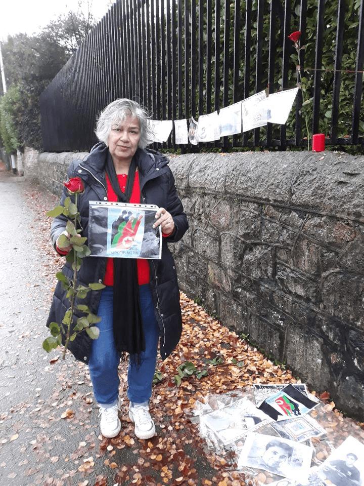 اعتراض در مقابل سفارت جمهوری اسلامی در دوبلین