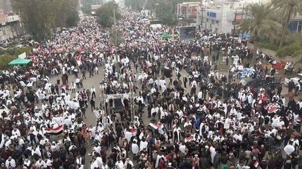 هزاران عراقی خواهان خروج آمریکا از این کشور شدند