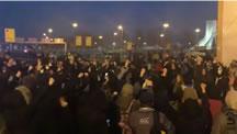 تظاهرات اعتراضی در ميدان آزادی