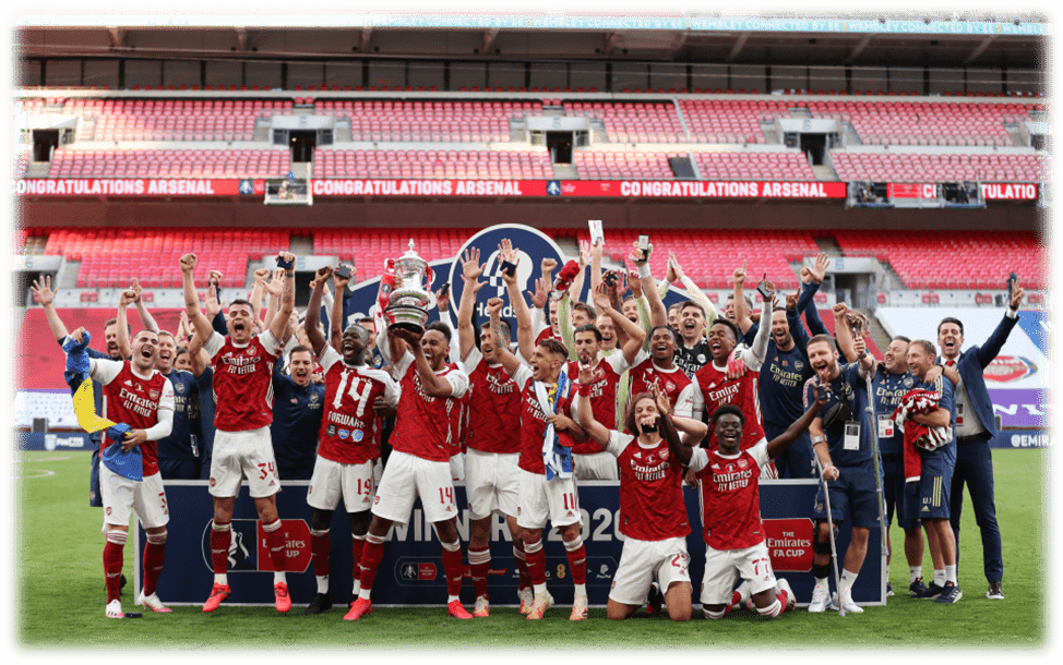 Pierre-Emerick Aubameyang lifted the FA Cup for Arsenal